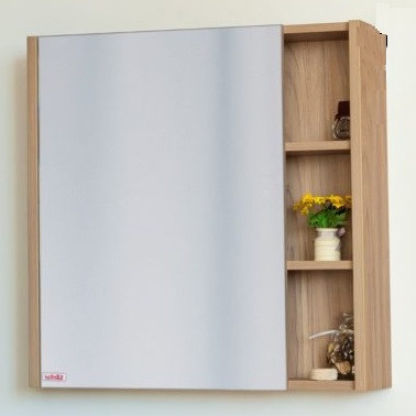 Зеркальный шкаф 71х82 см швейцарский вяз L Sanflor Мехико H0000001163