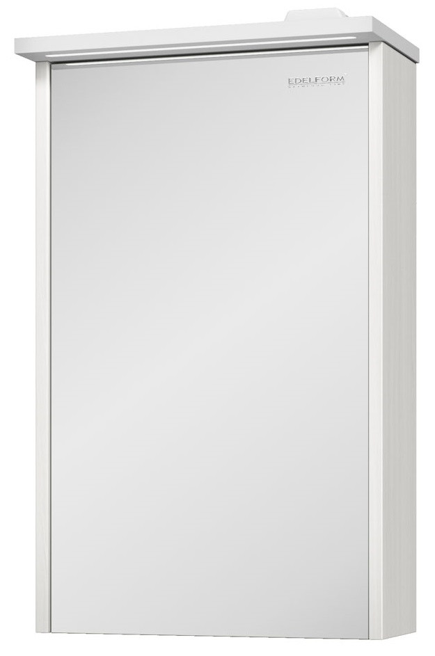зеркальный шкаф edelform уника 100 белый с дуб гальяно 2 741 45 s Зеркальный шкаф выбеленный дуб 42,2х68,1 см Edelform Marino 2-793-48-S