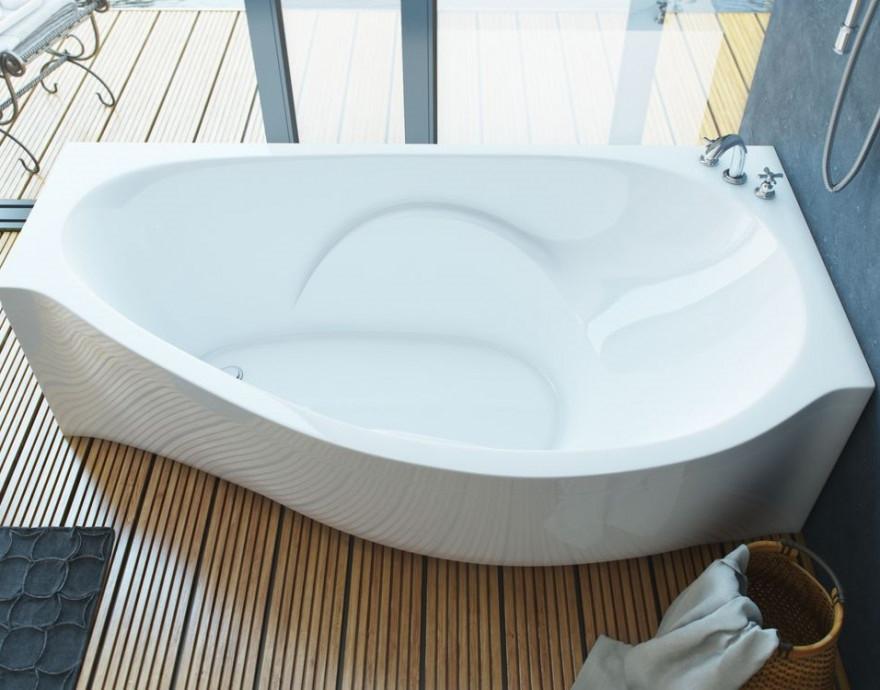 Ванна из литого мрамора 170х94 см R Эстет Грация FP00000633 ванна из литого мрамора эстет грация 170x94 см левая асимметричная на ножках фр 00000629