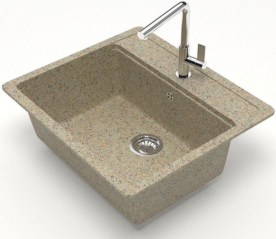 Кухонная мойка Zett Lab Модель 9 песочный матовый T009Q005 кухонная мойка zett lab модель 9 57x50 5 t009q002 бежевая