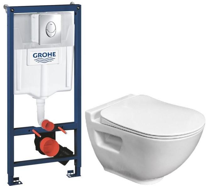 Комплект подвесной унитаз Bien Harmony HRKA052N2VP0W3000 + система инсталляции Grohe 38721001 фото
