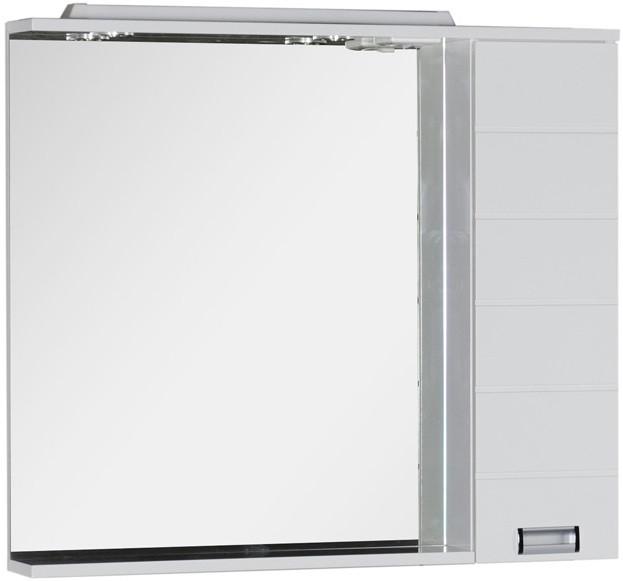 Зеркальный шкаф 98,6х87 см с подсветкой белый Aquanet Сити 00170566