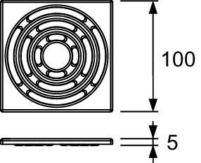Декоративная решетка 100×100 мм TECE TECEdrainpoint S хром 3665002