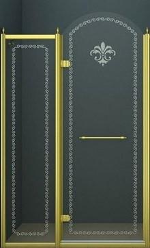Душевая дверь распашная Cezares Retro 120 см прозрачное c матовым узором RETRO-A-B-12-120-CP-G-L