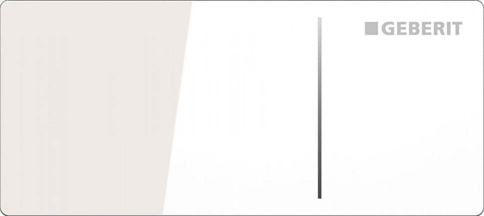 Дистанционная клавиша смыва Geberit Sigma 70 белое стекло, для бачков Sigma 8 см 115.635.SI.1 цена