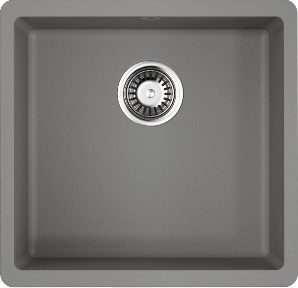Кухонная мойка ленинградский серый Artgranit Omoikiri Kata 44-U-GR кухонная мойка omoikiri kata 20 u gr artgranit leningrad grey 4993376