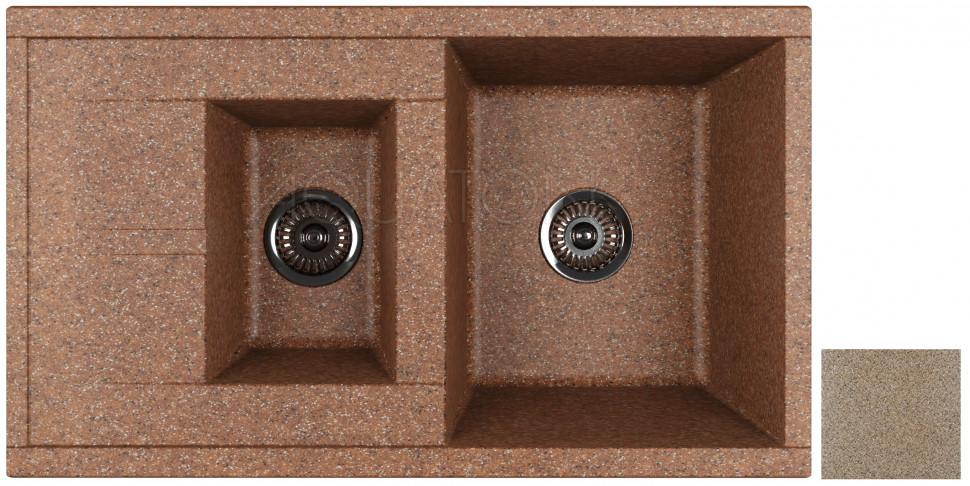 Кухонная мойка Акватон Делия терракот 1A716232DE270 кухонная мойка акватон делия латте 1a718632de260