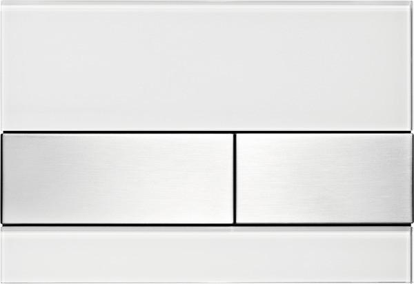 Смывная клавиша Tece TECEsquare белый/нержавеющая сталь с покрытием против отпечатков пальцев 9240801 фото