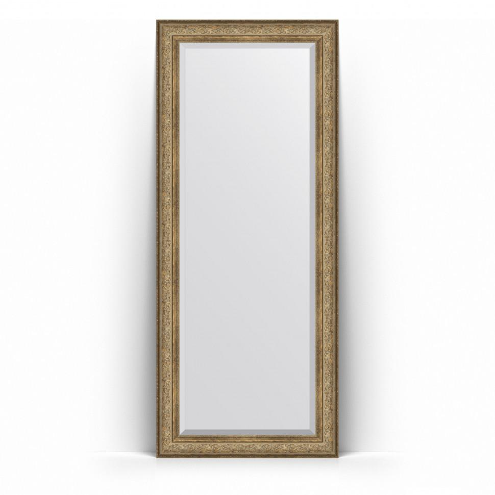 Фото - Зеркало напольное 85х205 см виньетка античная бронза Evoform Exclusive Floor BY 6135 зеркало напольное с фацетом evoform exclusive floor 85x205 см в багетной раме виньетка античная бронза 109 мм by 6135