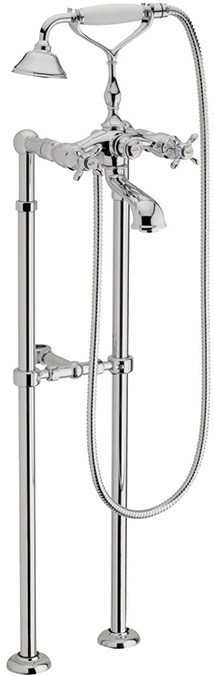 Фото - Смеситель напольный для ванны Webert Ottocento OT720801015 смеситель для ванны webert ottocento ot720801 хром белый