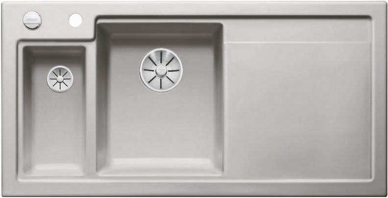 Кухонная мойка Blanco Axon II 6S InFino серый алюминий 524146 кухонная мойка blanco axon ii 6s infino матовый белый 524142