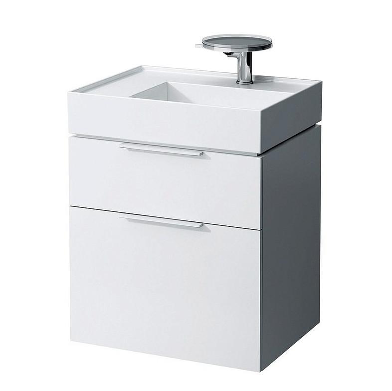 Тумба белый глянец 59,5 см 2 ящика Laufen Kartel by Laufen 4075620336311