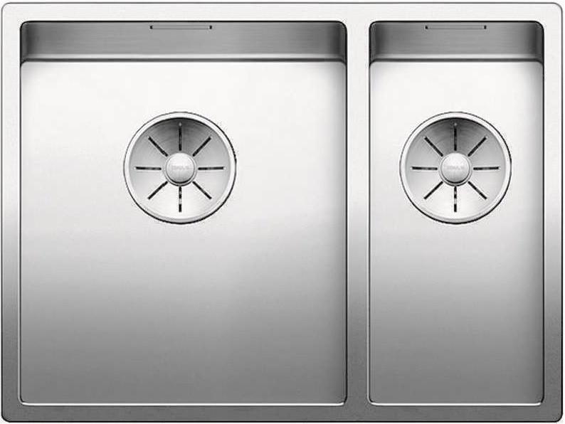 Кухонная мойка Blanco Claron 340/180-U InFino зеркальная полированная сталь 521609 кухонная мойка blanco claron 500 if infino зеркальная полированная сталь 521576