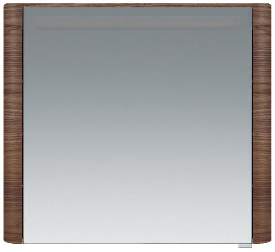 Фото - Зеркальный шкаф 80х70 см орех L Am.Pm Sensation M30MCL0801NF зеркальный шкаф 80х70 см белый глянец l am pm sensation m30mcl0801wg