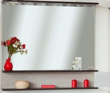 Зеркало 96,4х88 см венге/северное дерево светлое Sanflor Турин C0000002134 фото