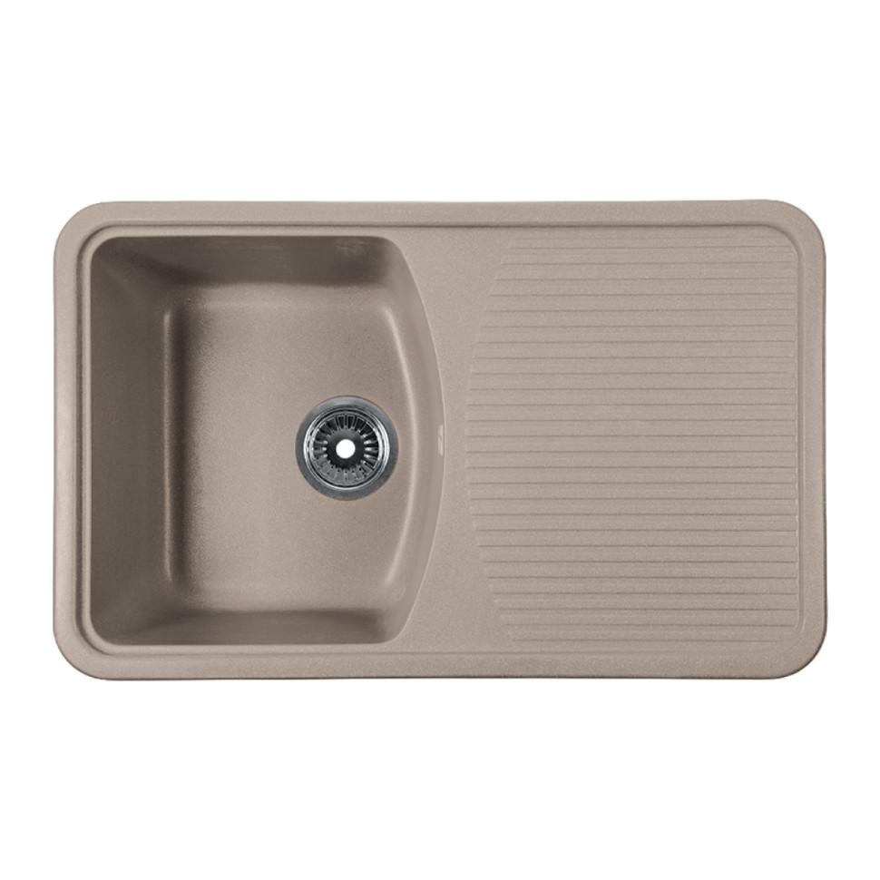 Кухонная мойка бежевый Rossinka RS76-47SW-Beige-Granite кухонная мойка бежевый rossinka rs51r beige granite
