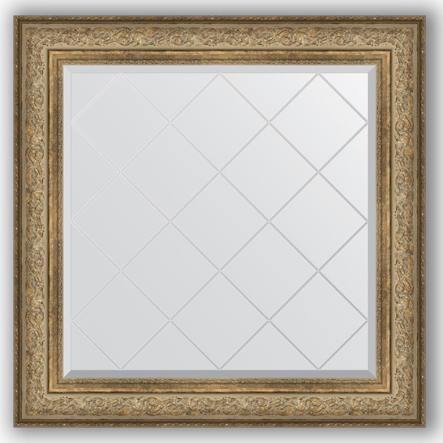 Фото - Зеркало 90х90 см виньетка античная бронза Evoform Exclusive-G BY 4339 зеркало 75х130 см виньетка античная бронза evoform exclusive g by 4230