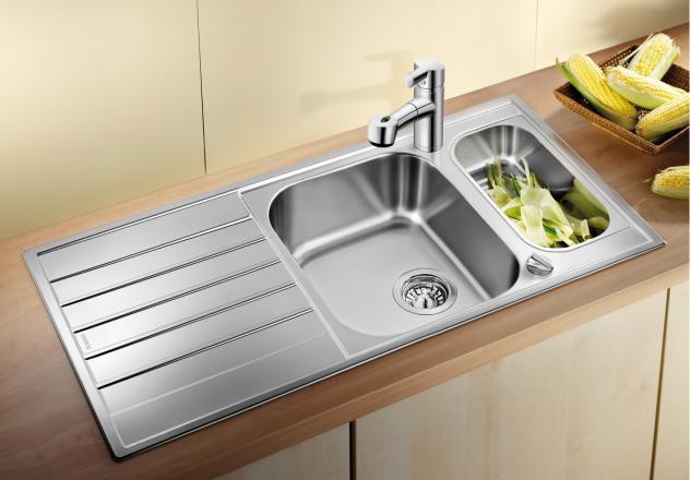 Кухонная мойка Blanco Livit 6S Centric Полированная сталь 516191 цена в Москве и Питере