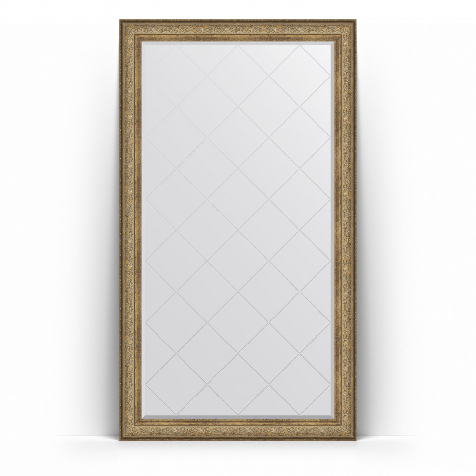 Фото - Зеркало напольное 115х205 см виньетка античная бронза Evoform Exclusive-G Floor BY 6375 зеркало 75х130 см виньетка античная бронза evoform exclusive g by 4230