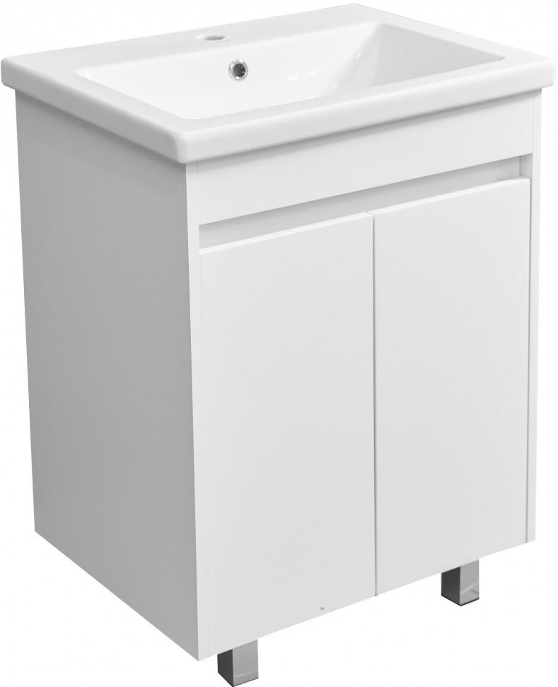 Тумба белый глянец/белый матовый 59,7 см Stella Polar Фаворит SP-00000163