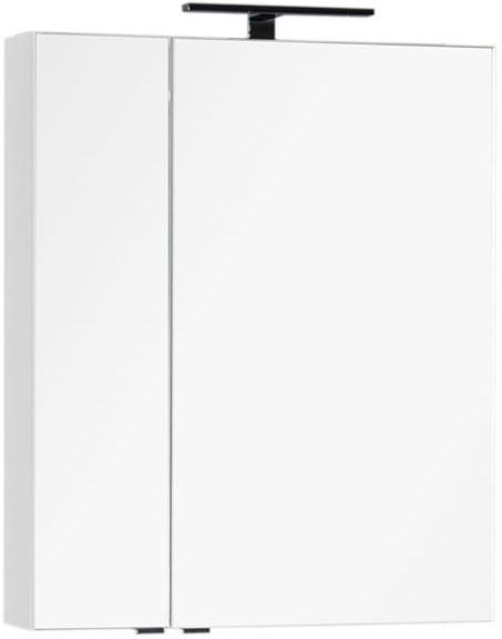 Зеркальный шкаф 69,8х85 см белый Aquanet Эвора 00184305