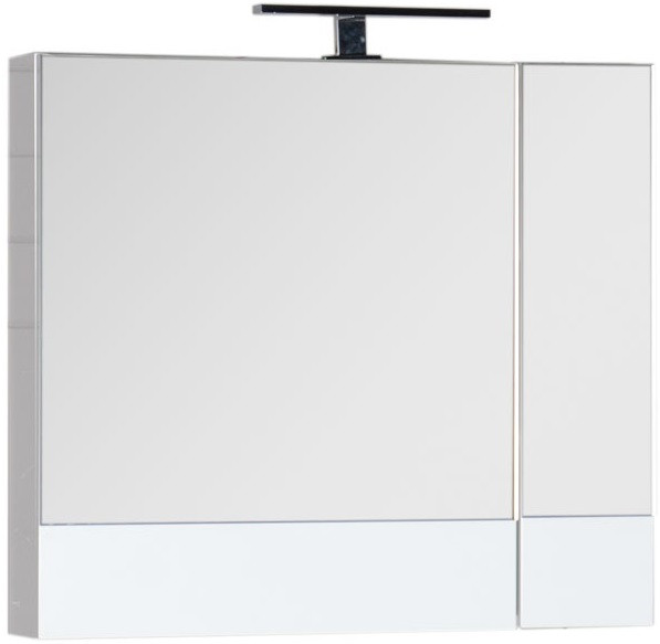 Зеркальный шкаф 75х67 см белый Aquanet Нота 00165130