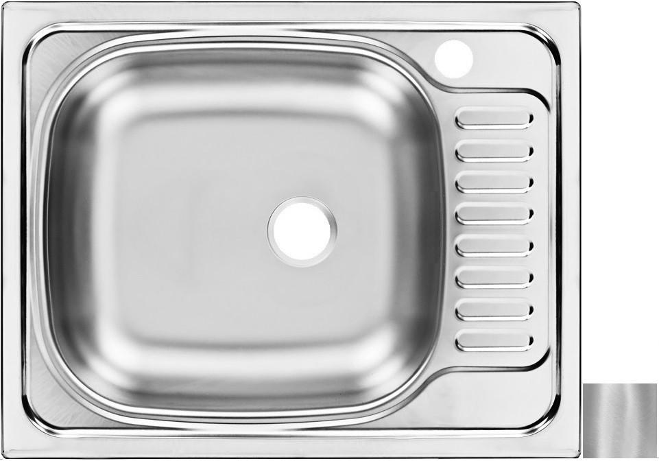 цена на Кухонная мойка матовая сталь Ukinox Классика CLM560.435 ---5K 2L