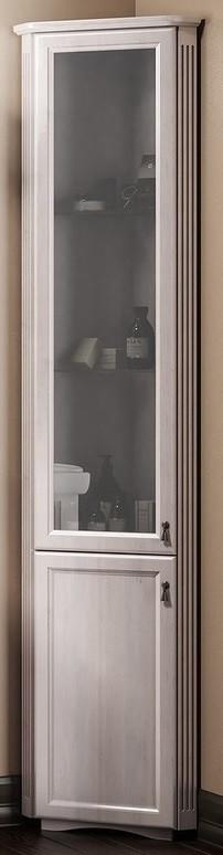 Пенал напольный угловой белый матовое стекло Opadiris Клио Z0000006322 фото