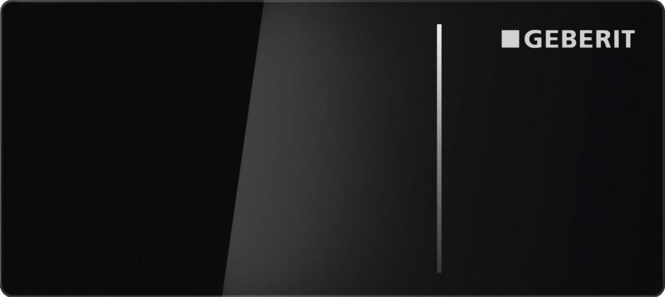 Дистанционная клавиша смыва Geberit Sigma 70 черное стекло, для бачков Sigma 8 см 115.635.SJ.1 цена