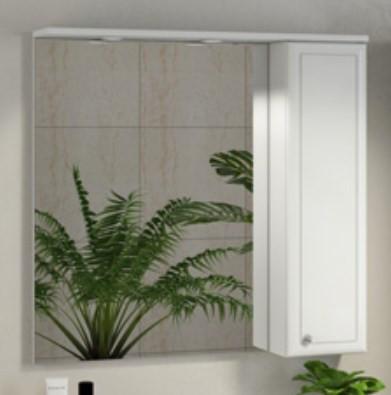 Зеркальный шкаф 84х82 см белый глянец Comforty Сочи 00003132119 зеркальный шкаф 75х80 см белый глянец comforty неаполь 00004147561