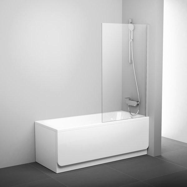 Шторка для ванны 80 см Ravak Pivot 79840C00Z1 прозрачное недорого