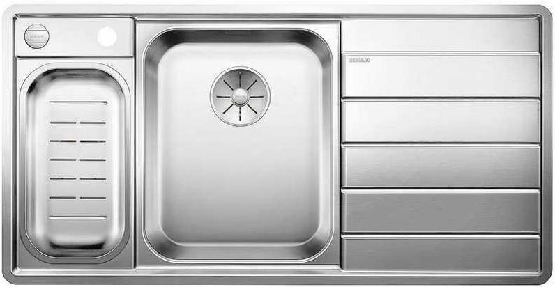 Кухонная мойка Blanco Axis III 6S-IF InFino зеркальная полированная сталь 522105 кухонная мойка blanco axis iii 6s if чаша слева нерж сталь зеркальная полировка с кл авт 522105