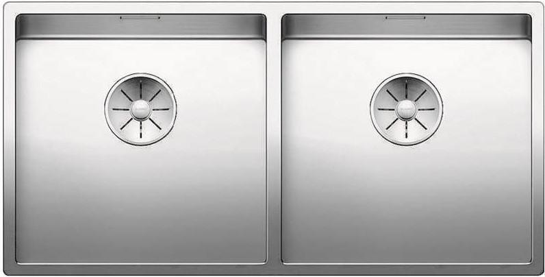 Кухонная мойка Blanco Claron 400/400-U InFino зеркальная полированная сталь 521618 кухонная мойка blanco claron 500 if infino зеркальная полированная сталь 521576