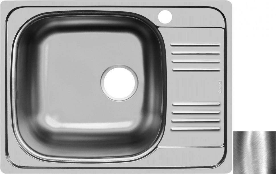 Кухонная мойка полированная сталь Ukinox Гранд GRP652.503 -GT8K 2L
