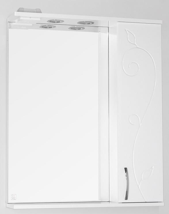 Фото - Зеркальный шкаф 65х83 см белый глянец Style Line Панда Фьюжн LC-00000078 зеркальный шкаф 50х83 см венге белый глянец style line панда стиль lc 00000086