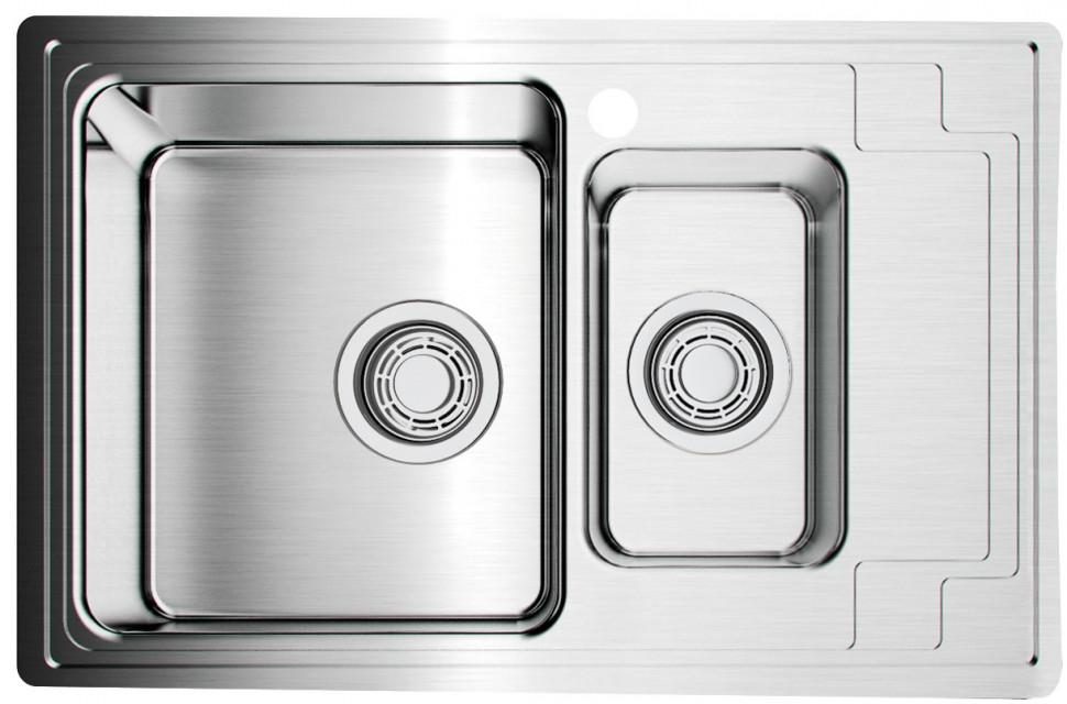Кухонная мойка нержавеющая сталь Omoikiri Mizu 78-2 L omoikiri mizu 71 1 l