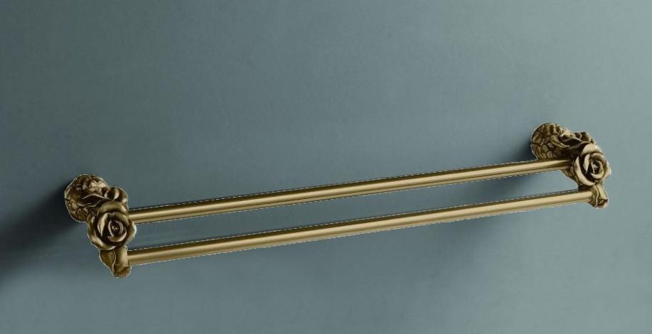 Полотенцедержатель двойной 60 см бронза Art&Max Rose AM-0918-B