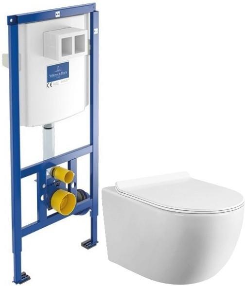 Комплект подвесной унитаз MEER MR-2100 + система инсталляции Villeroy & Boch 92246100 фото