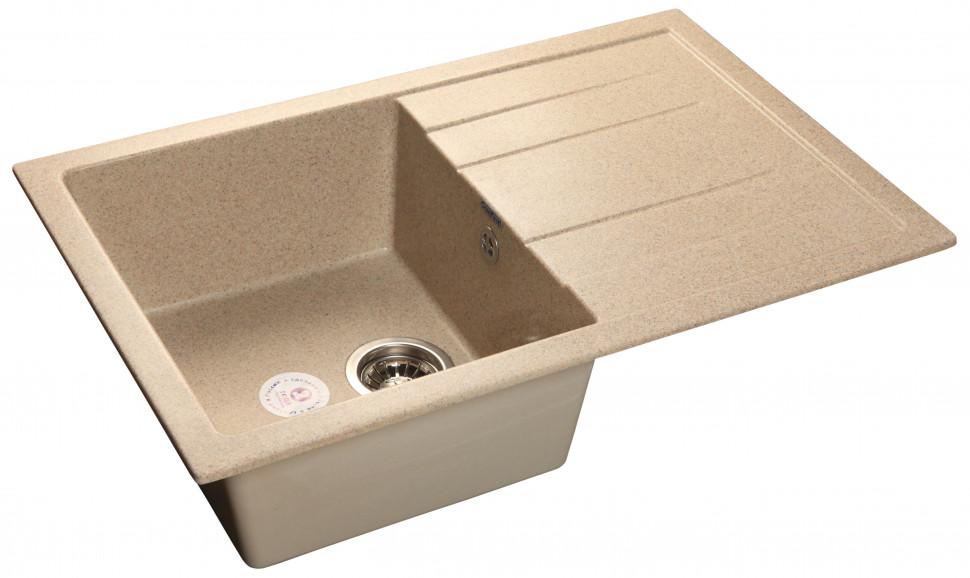 Кухонная мойка песочный GranFest Quadro GF-Q780L кухонная мойка песочный granfest quadro gf q650l