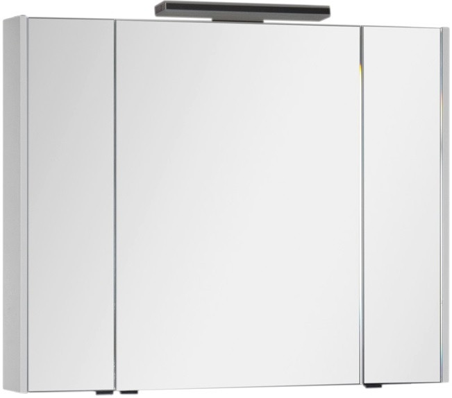Зеркальный шкаф 104х85 см белый Aquanet Франка 00183047