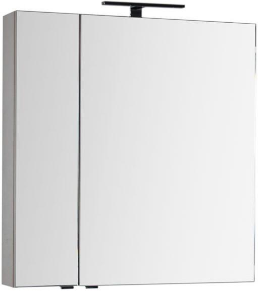 Зеркальный шкаф 79,8х85 см капучино Aquanet Эвора 00183995