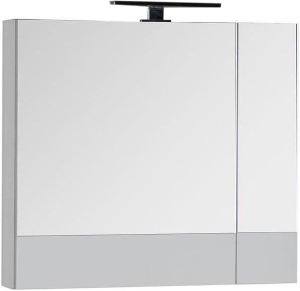 Зеркальный шкаф 75х67 см белый Aquanet Верона 00175381 зеркальный шкаф 65х88 1 см белый aquanet стайл 00179922