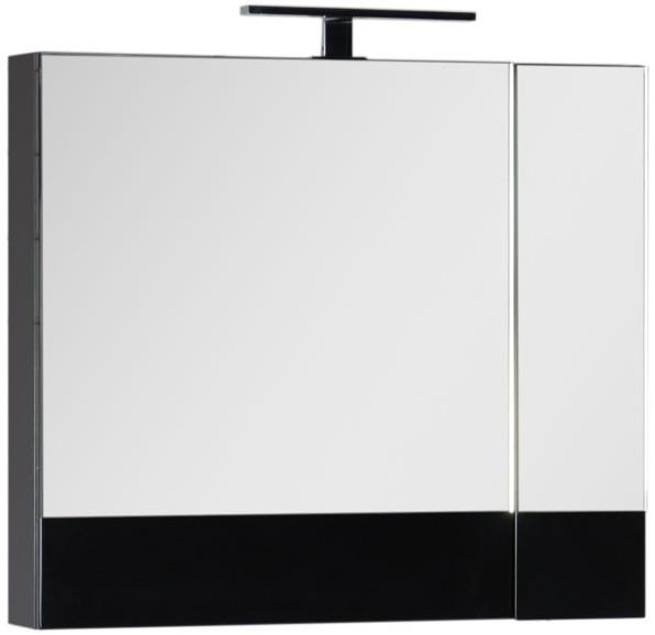 Зеркальный шкаф 75х67 см черный Aquanet Нота 00169190 все цены