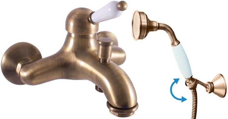 Смеситель для ванны Rav Slezak Labe L554.5/2SM смеситель для душа rav slezak labe l581 5 2sm