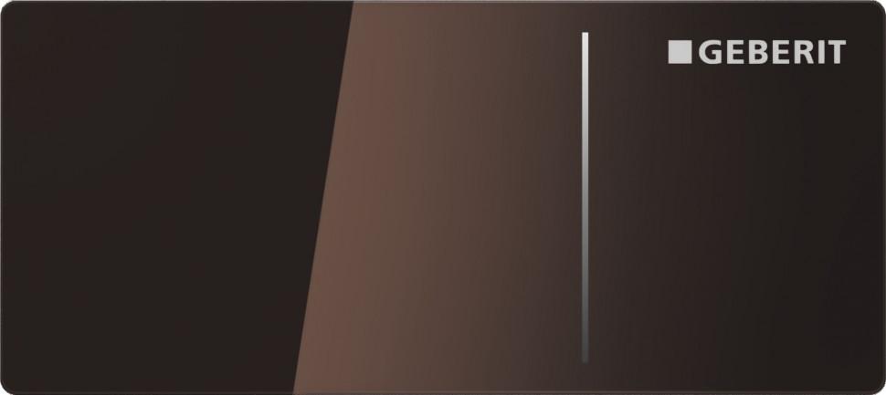 Дистанционная клавиша смыва Geberit Sigma 70 стекло цвета умбры, для бачков Sigma 8 см 115.635.SQ.1 цена