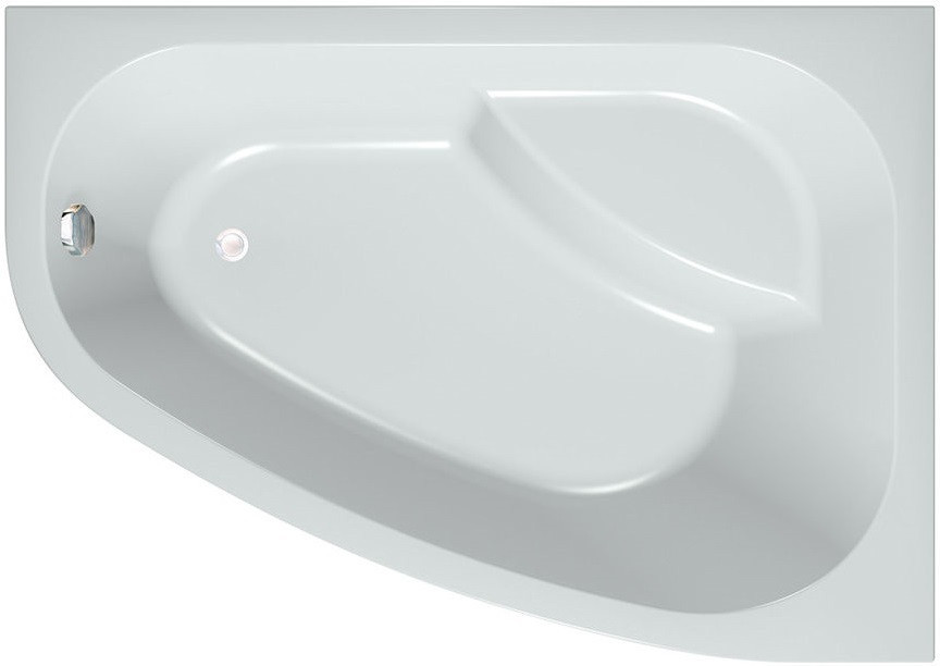 Акриловая ванна 170х120 см L Kolpa San Chad/S Basis акриловая ванна с гидромассажем kolpa san chad s magic l 170x120 см левая на каркасе слив перелив