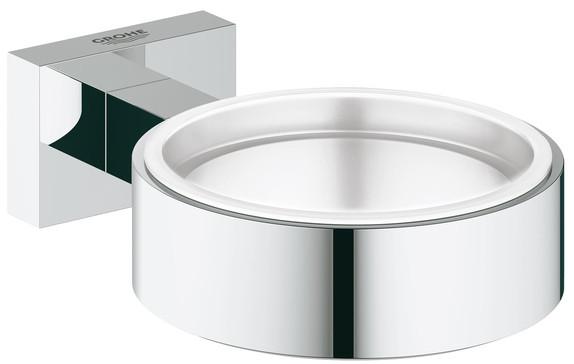 Держатель для стакана или мыльницы Grohe Essentials Cube 40508000 держатель стакана grohe atrio 40304000