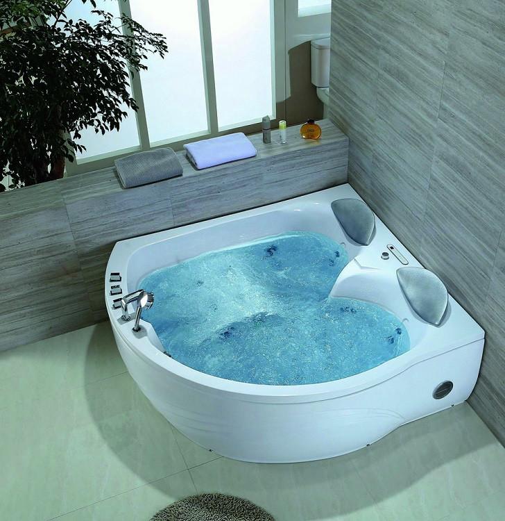 Акриловая гидромассажная ванна 175х160 см Black & White Galaxy 5005000