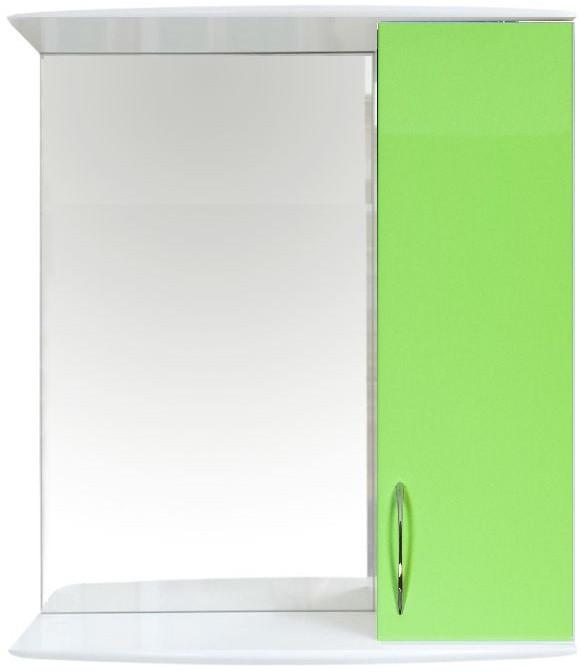 Зеркальный шкаф 50х70,1 см белый глянец/салатовый глянец Orange Роса Ro-50ZSL