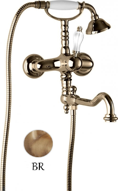 Смеситель для ванны с поворотным изливом бронза Cezares Venezia VENEZIA-VDFM2-02-Bi